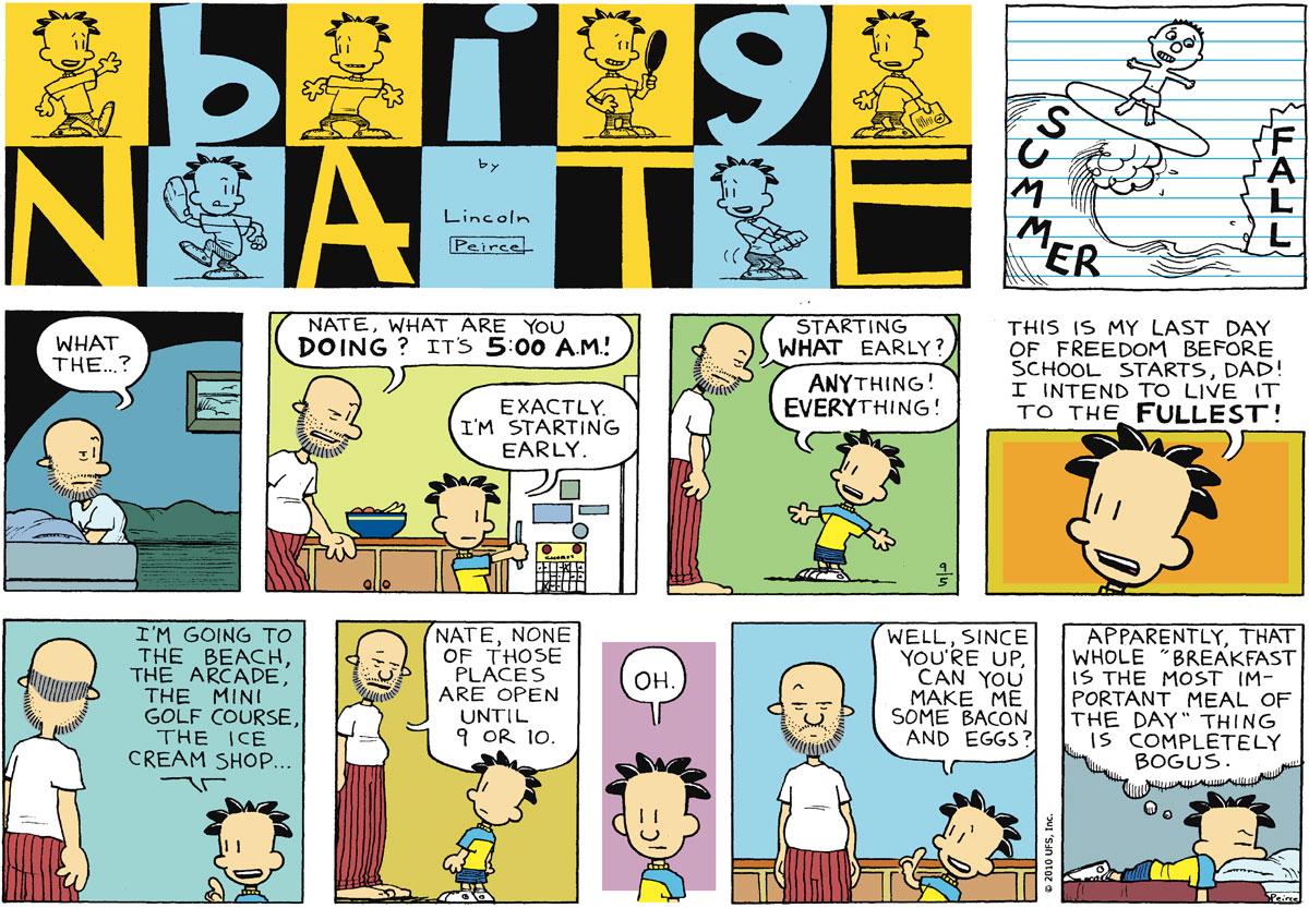 Big Nate Comic Strip for September 05, 2010