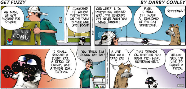 Get Fuzzy on Sunday August 29, 2004 Comic Strip