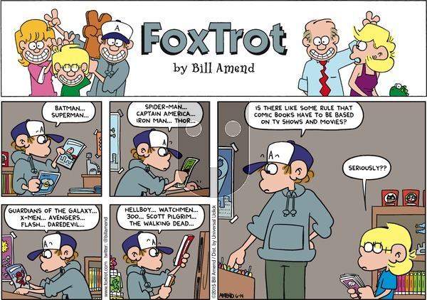 FoxTrot on Sunday June 14, 2015 Comic Strip