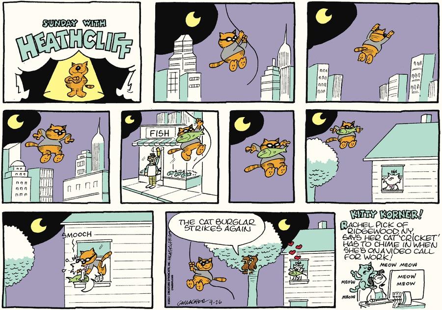 Heathcliff Comic Strip for September 26, 2021