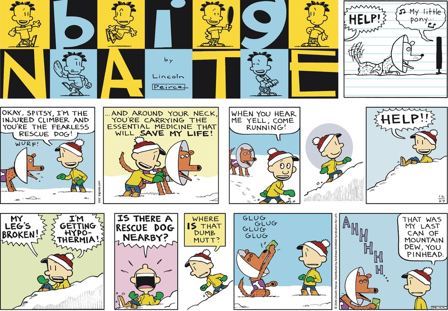 Big Nate Comic Strip for December 27, 2020
