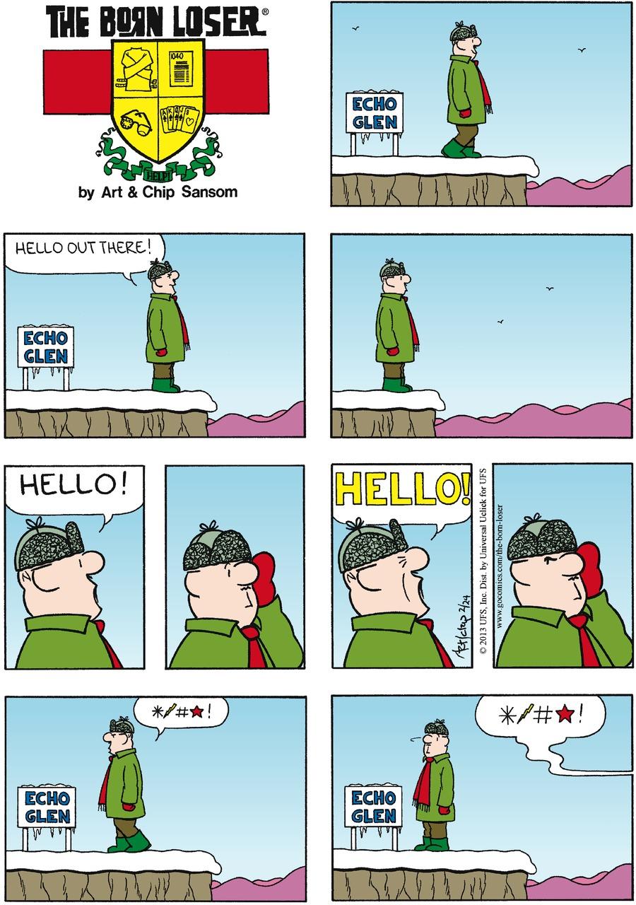The Born Loser for Feb 24, 2013 Comic Strip