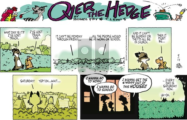 Over the Hedge on Sunday May 17, 2020 Comic Strip