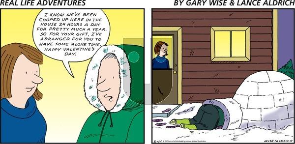 Real Life Adventures - Sunday February 14, 2021 Comic Strip