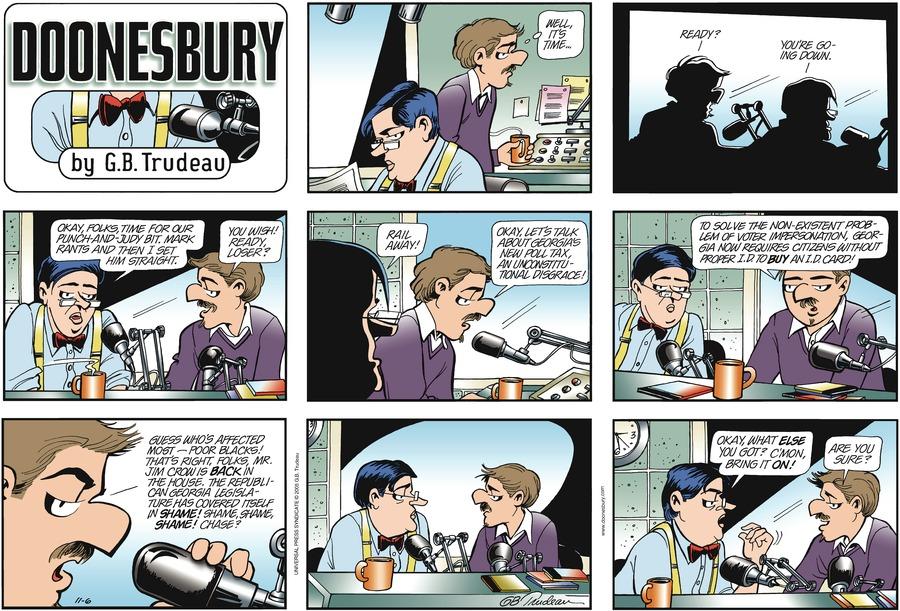 Doonesbury Comic Strip for November 06, 2005