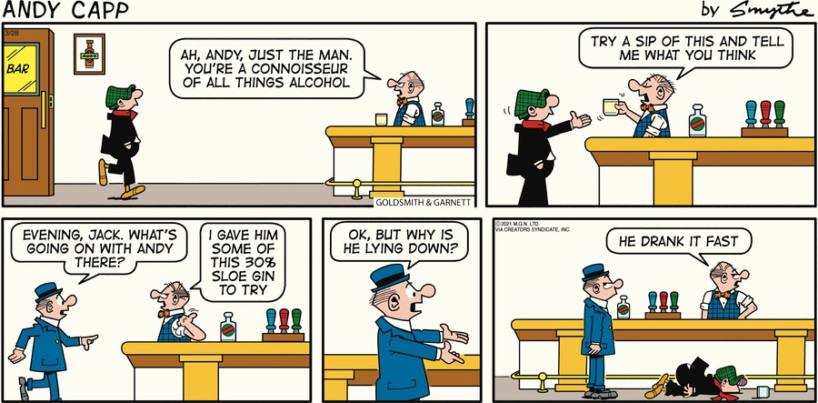 Andy Capp Comic Strip for March 28, 2021