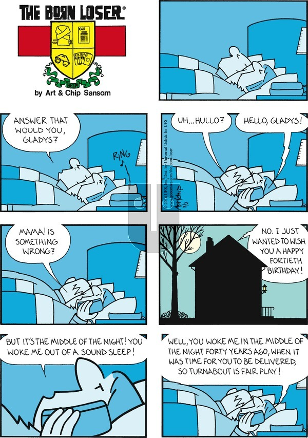 The Born Loser on Sunday March 2, 2014 Comic Strip