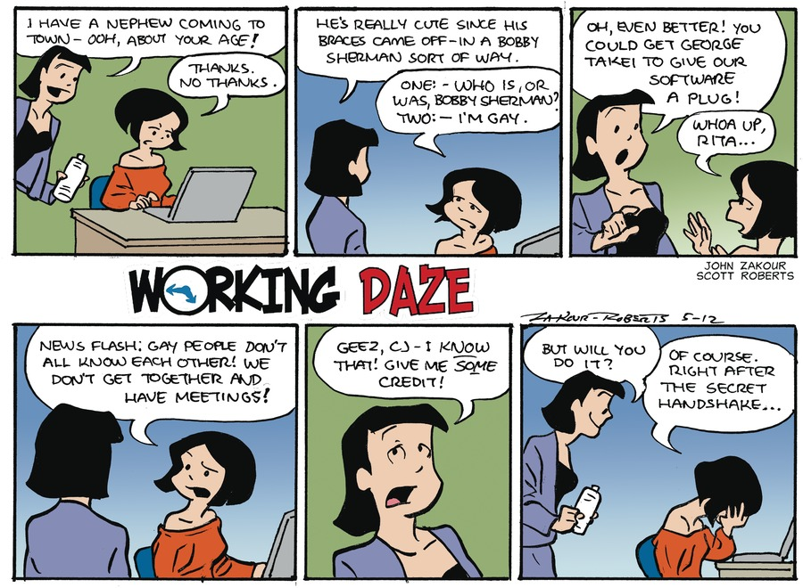 Working Daze for May 12, 2013 Comic Strip