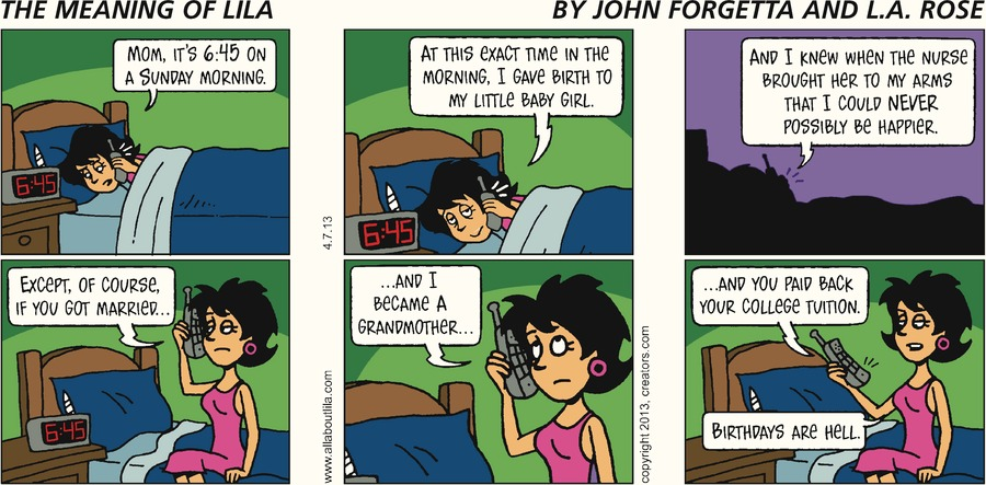The Meaning of Lila for Apr 7, 2013 Comic Strip