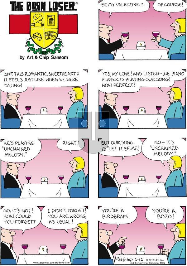 The Born Loser on Sunday February 12, 2012 Comic Strip