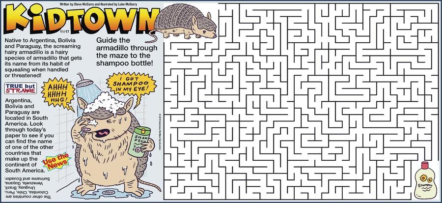 KidTown Comic Strip for November 17, 2019