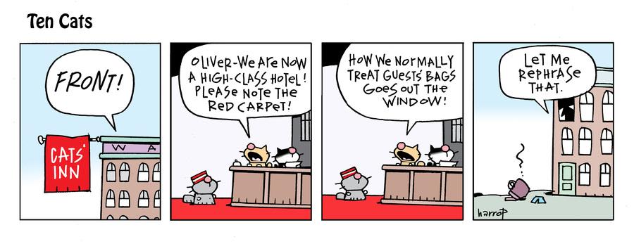 Ten Cats Comic Strip for September 28, 2021