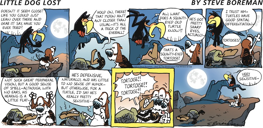 Little Dog Lost for Mar 30, 2014 Comic Strip