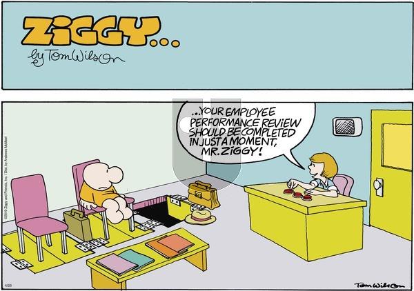 Ziggy - Sunday April 28, 2019 Comic Strip