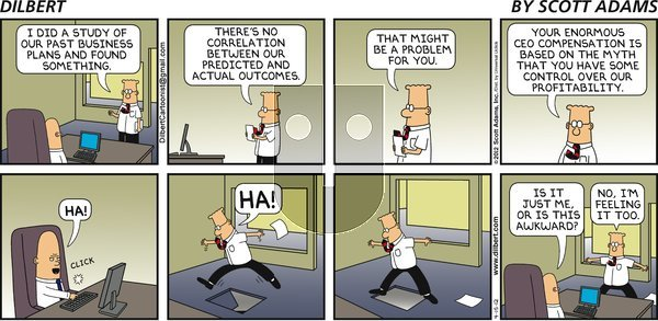 Dilbert - Sunday April 15, 2012 Comic Strip