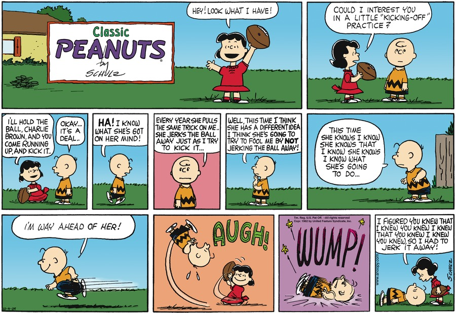 Peanuts Comic Strip for October 04, 2009