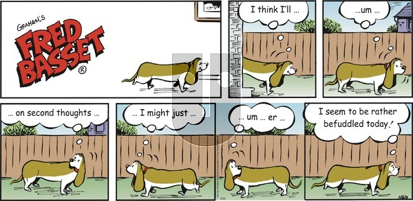 Fred Basset - Sunday March 22, 2020 Comic Strip