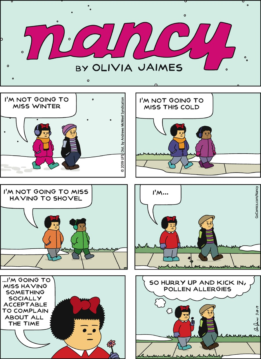 Nancy by Olivia Jaimes for March 10, 2019