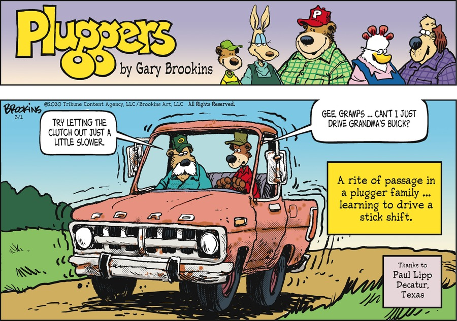 Pluggers Comic Strip for March 01, 2020