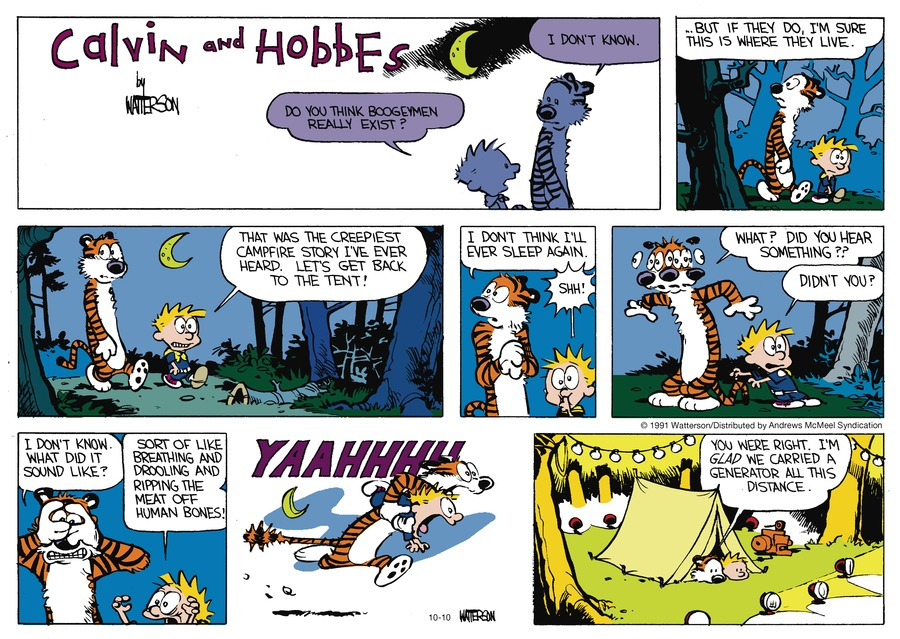 Calvin and Hobbes by Bill Watterson on Sun, 10 Oct 2021