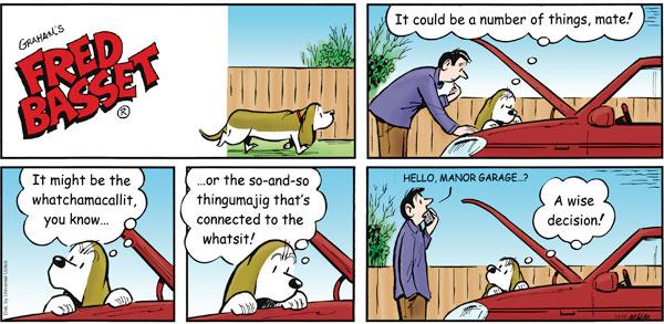 Fred Basset Comic Strip for December 12, 2010