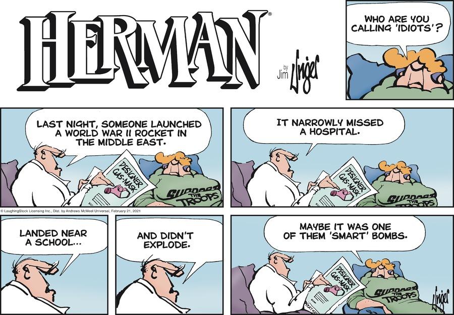 Herman by Jim Unger on Sun, 21 Feb 2021