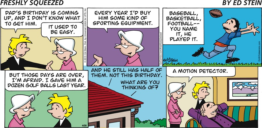 Freshly Squeezed for Apr 28, 2013 Comic Strip