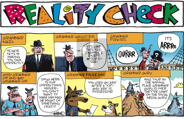 Reality Check on Sunday January 27, 2019 Comic Strip