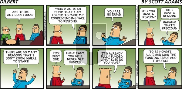 Dilbert on Sunday November 19, 2017 Comic Strip