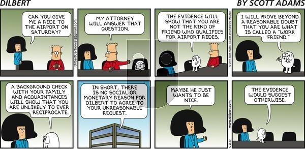 Dilbert on Sunday May 21, 2017 Comic Strip
