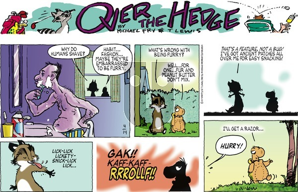Over the Hedge on Sunday April 14, 2019 Comic Strip