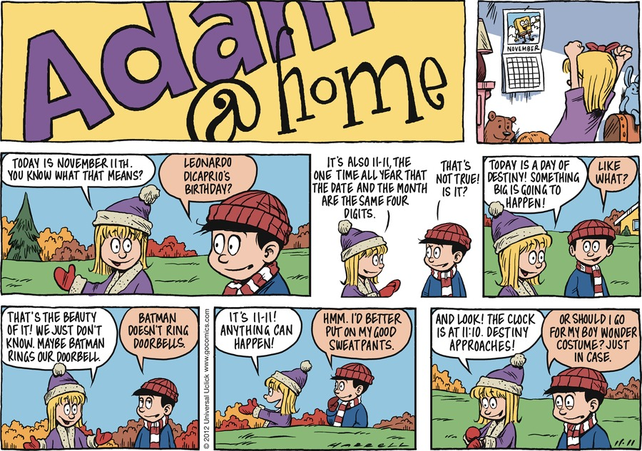 Adam@Home Comic Strip for November 11, 2012
