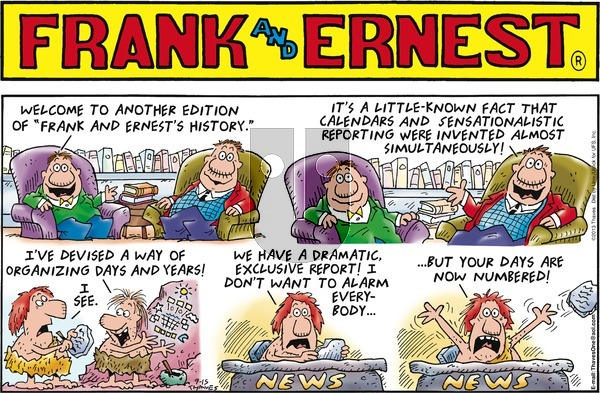 Frank and Ernest on Sunday September 15, 2013 Comic Strip