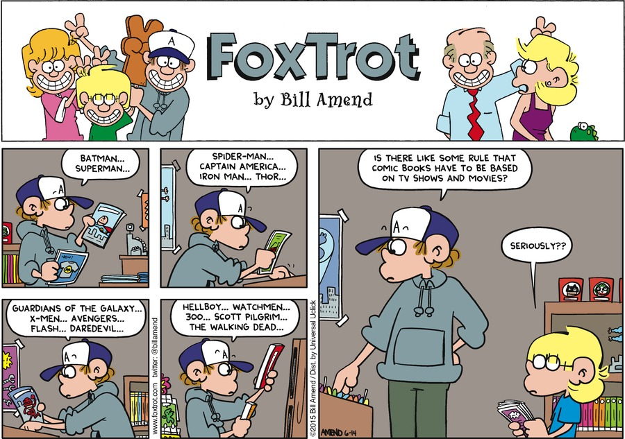 FoxTrot Comic Strip for June 14, 2015