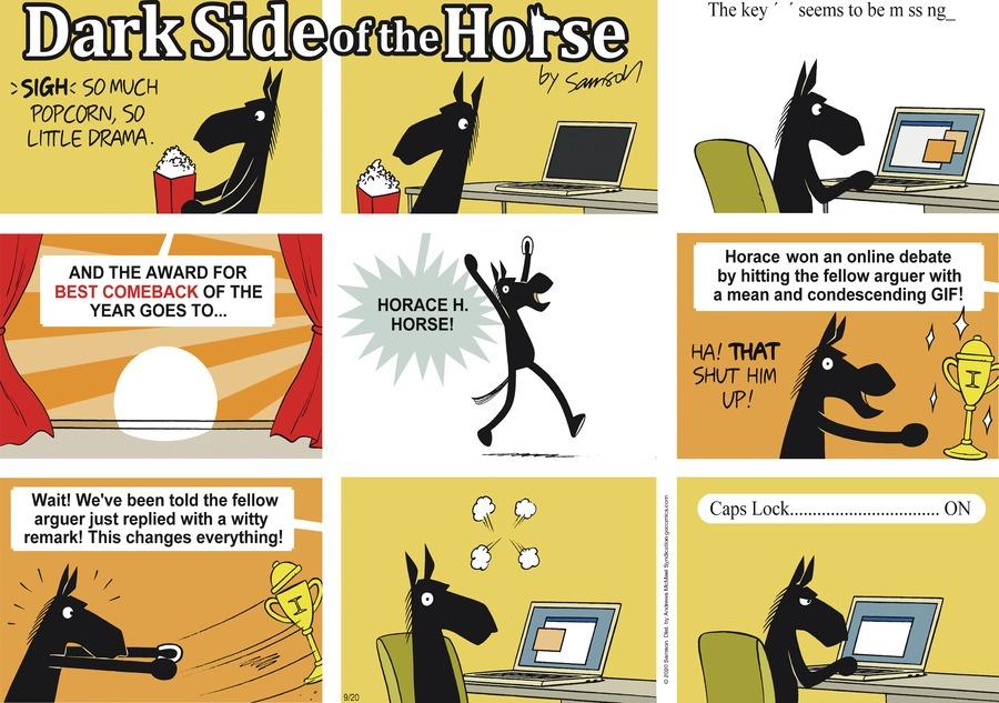 Dark Side of the Horse Comic Strip for September 20, 2020