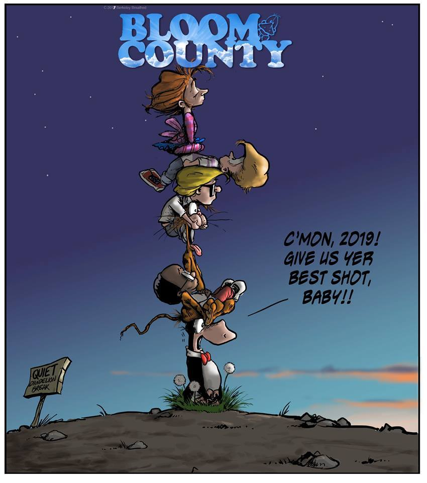 Bloom County 2018 by Berkeley Breathed for January 08, 2019