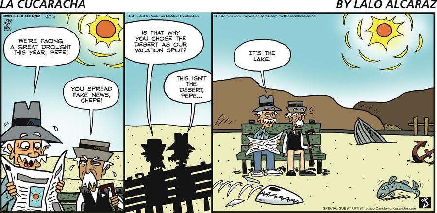 La Cucaracha Comic Strip for August 15, 2021