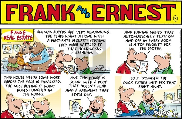 Frank and Ernest on Sunday May 5, 2019 Comic Strip