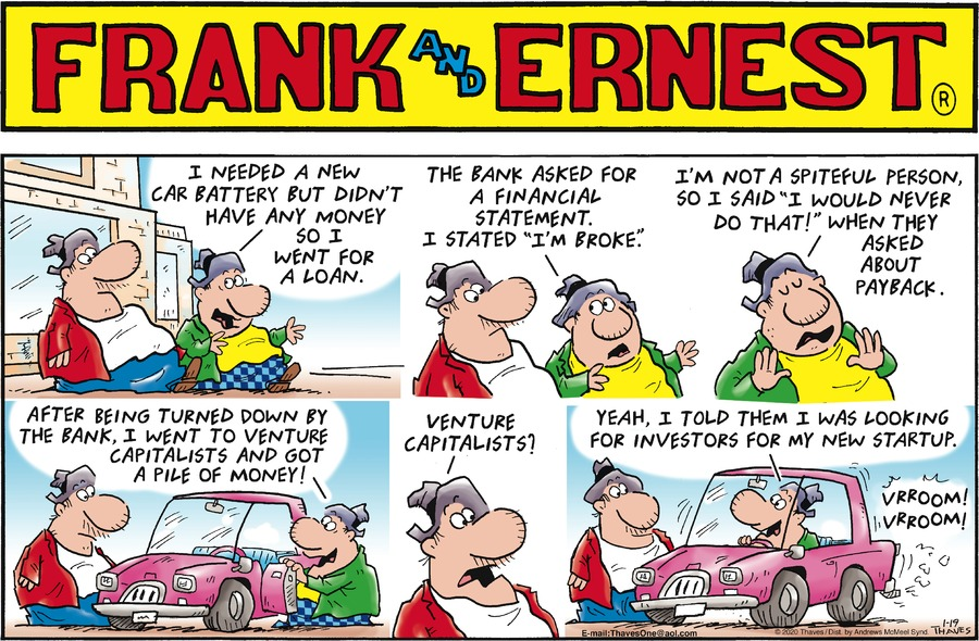 Frank and Ernest Comic Strip for January 19, 2020