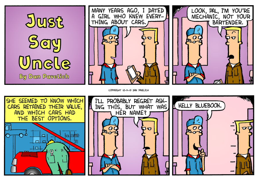 Just Say Uncle Comic Strip for October 14, 2019
