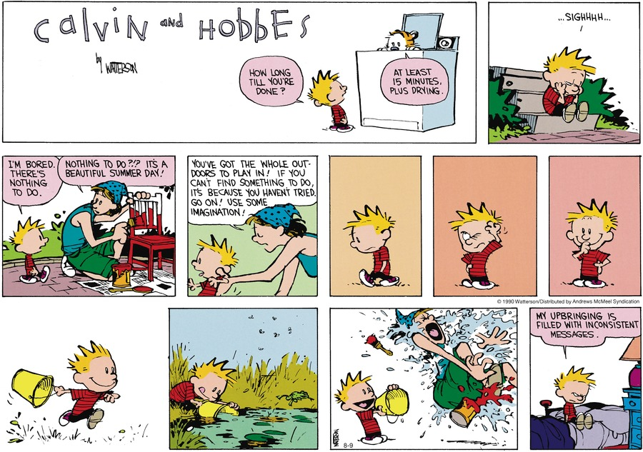 Calvin and Hobbes Comic Strip for August 09, 2020