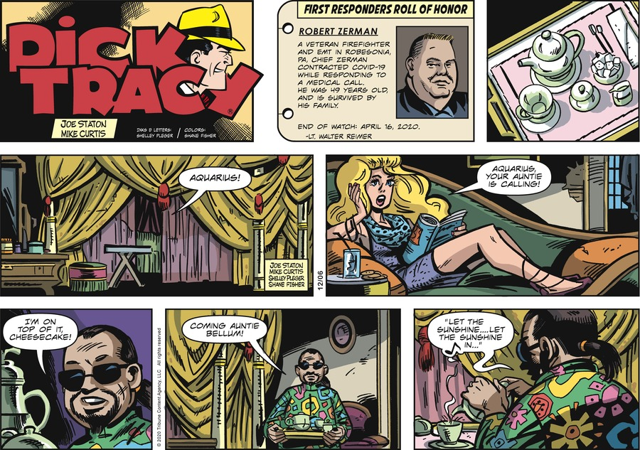 Dick Tracy Comic Strip for December 06, 2020