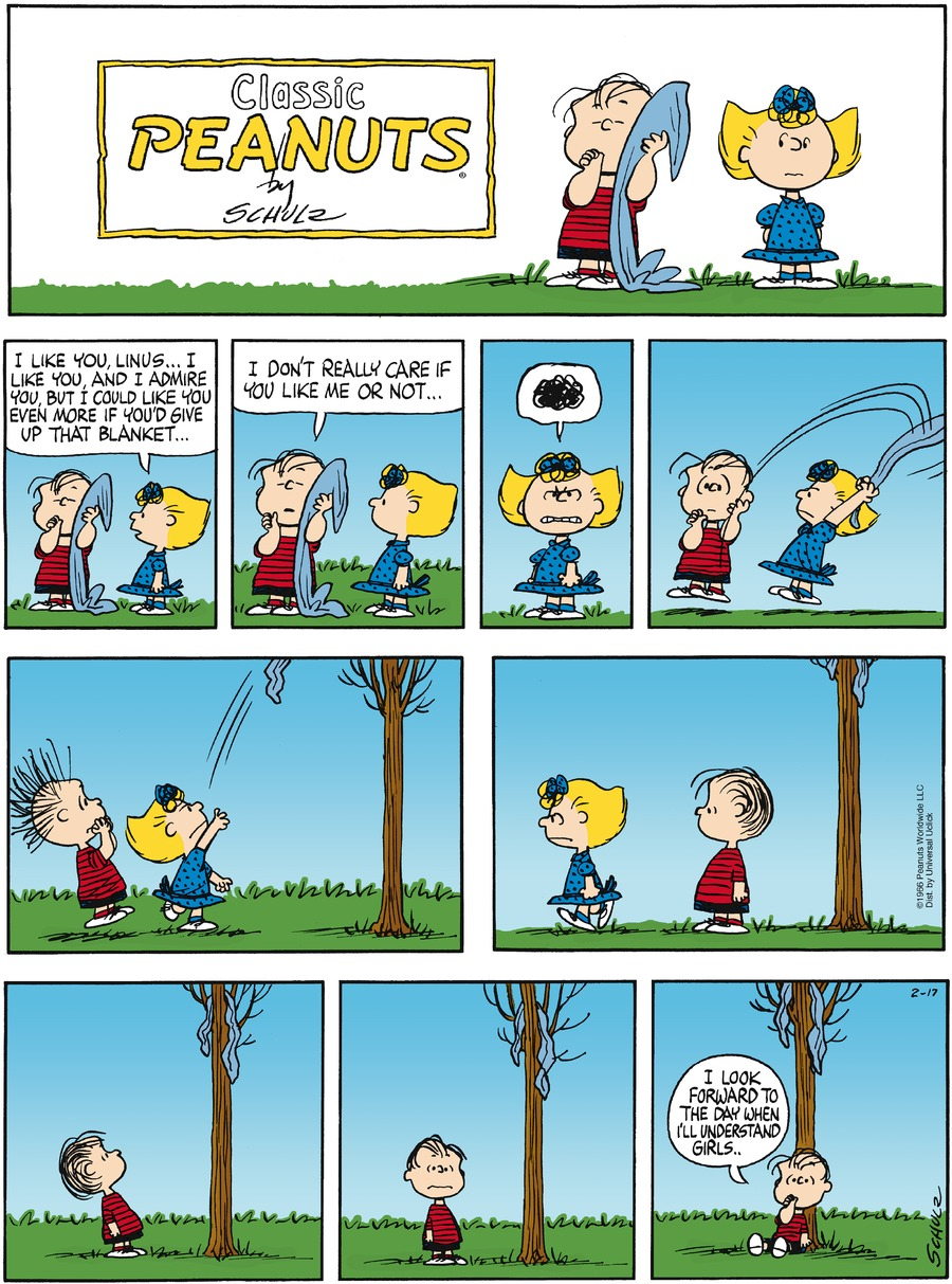 Peanuts Comic Strip for February 17, 2013