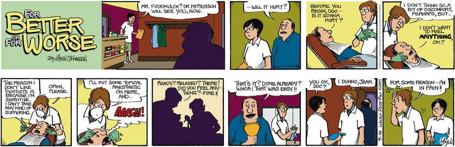 For Better or For Worse for Sep 14, 2008 Comic Strip