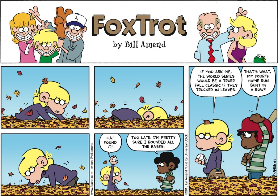 FoxTrot Comic Strip for November 01, 2015