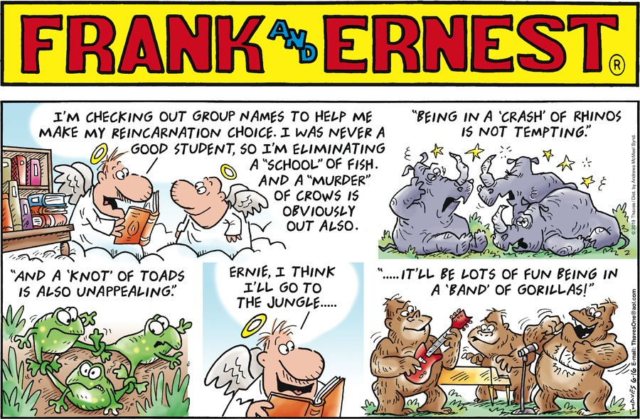 Frank and Ernest Comic Strip for June 16, 2019