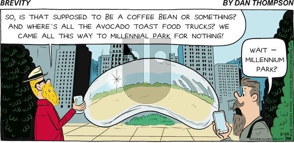 Brevity on Sunday February 25, 2018 Comic Strip