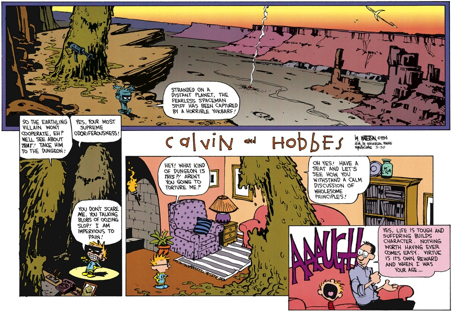 Calvin and Hobbes Comic Strip for March 30, 2014