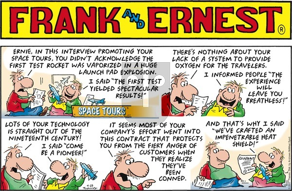 Frank and Ernest on Sunday April 23, 2017 Comic Strip