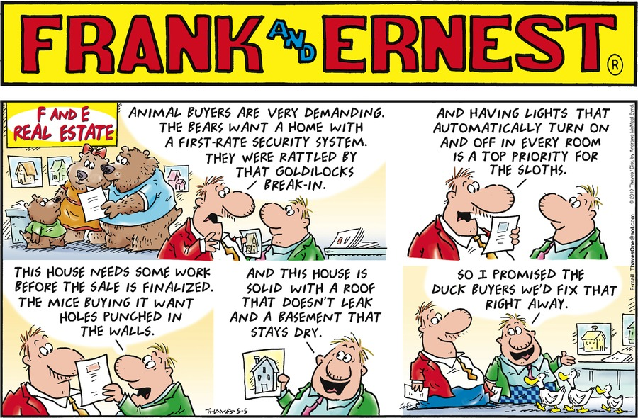 Frank and Ernest Comic Strip for May 05, 2019